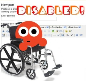 eSnips posts disabled